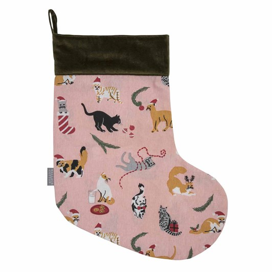 Wallace Cotton Cats Stocking