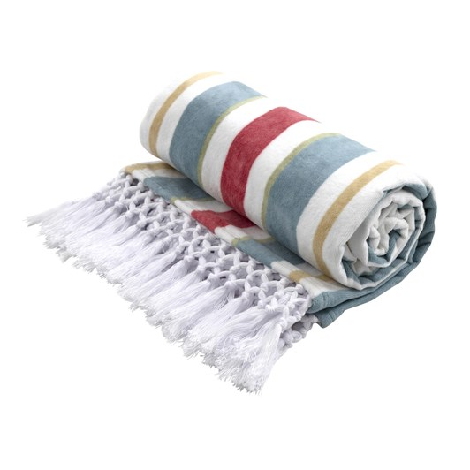 Wallace Cotton Surfboard Stripe Beach Towel