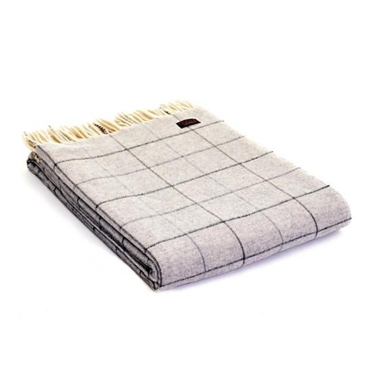 Tweedmill Merino Check Throw 130X180 Grey
