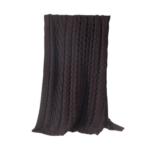 MM Linen Cable Throw 130x170