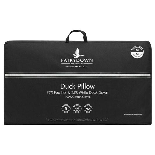 Fairydown Standard 75/25 Duck Pillow - Medium