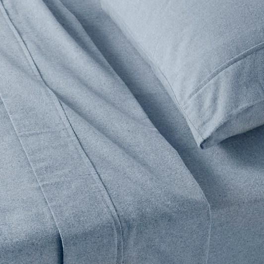 Baksana Chambray Flannel Sheet Set