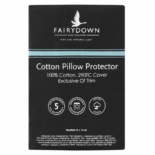 Fairydown Cotton Pillow Protector - Standard