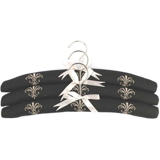 Fleur De Lis Embroidered Hangers Pack Of 3