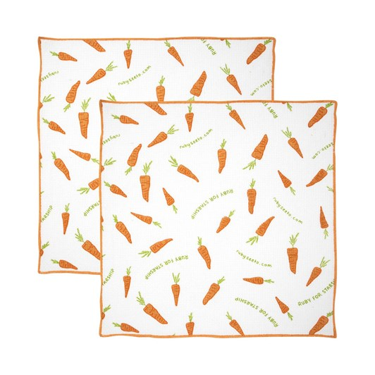 Wallace Cotton Starship Carrot Cake Wash Cloth Set of 2