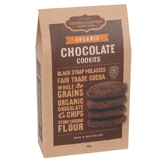 Natures Harvest Organic Chocolate Cookies 180g