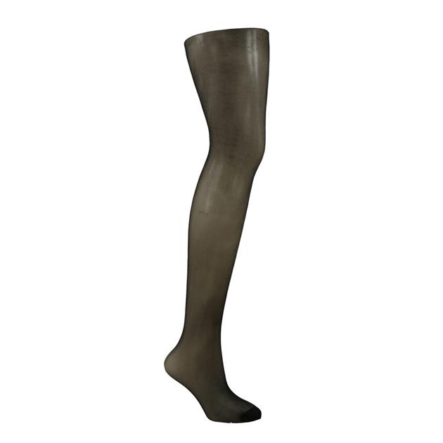 Columbine Sheer Panel Gusset Pantihose - black
