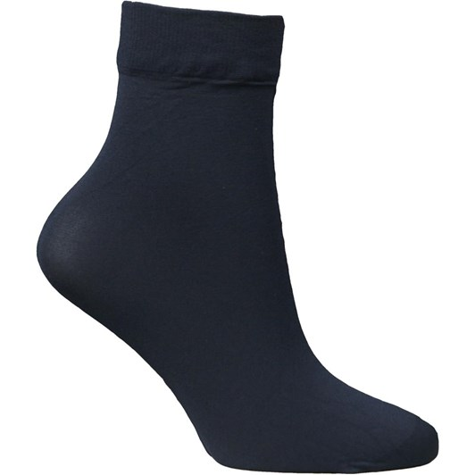Columbine Black Nylon Opaque Anklettes 50 Denier