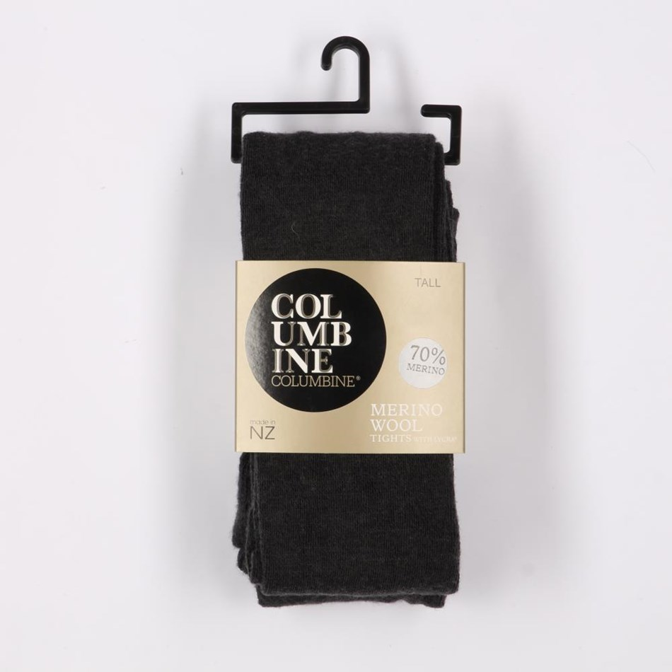 Columbine Wool Lycra Tights - charcoal