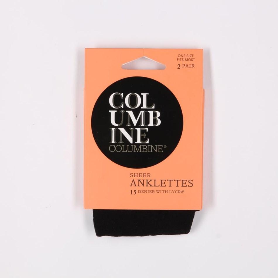 Columbine Sheer Nylon Anklets 2 Pack -