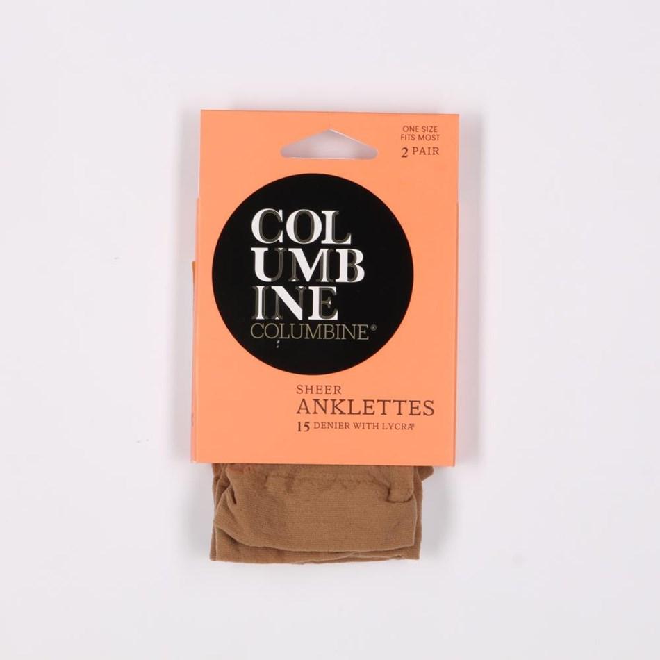 Columbine Sheer Nylon Anklets 2 Pack - blush