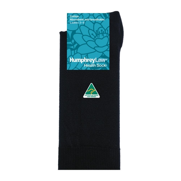 Pure Cotton Health Socks - 009 black