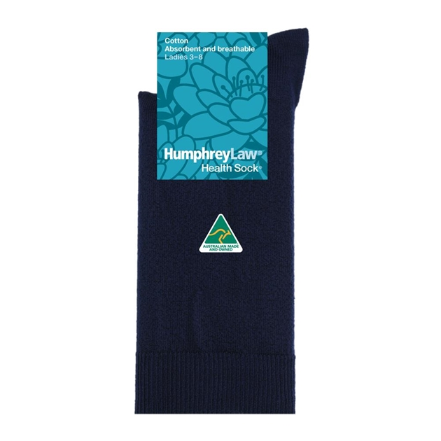 Pure Cotton Health Socks - 069 navy