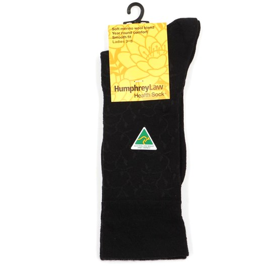 Wool Blend Lace Vine Health Socks
