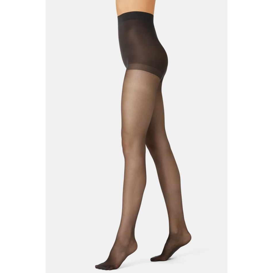 Kayser Strong and Sheer Resilience Control Brief Pantihose - bbk barely black