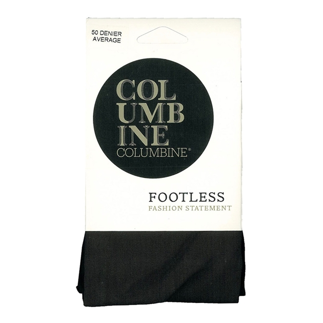 Columbine 50D Footless Tights - black