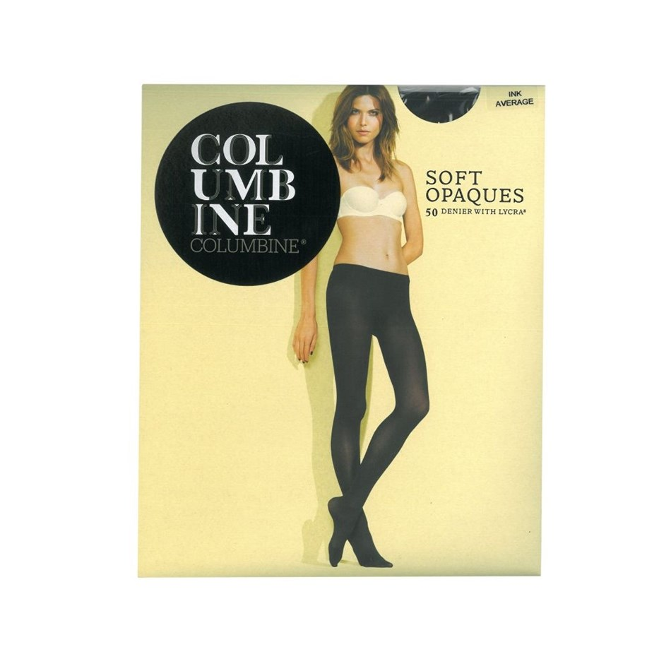 Columbine Soft Opaque Pantihose - Widepack - ink