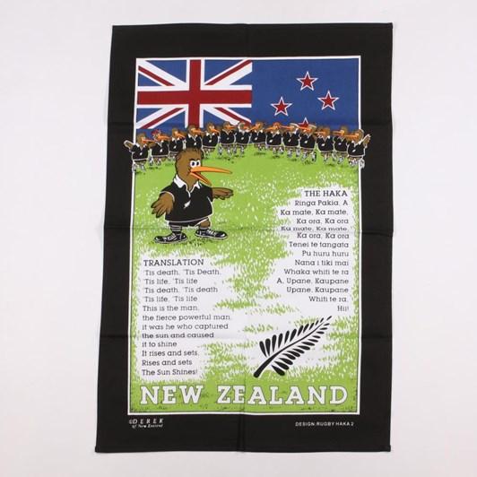 Derek Rugby Haka Tea Towel