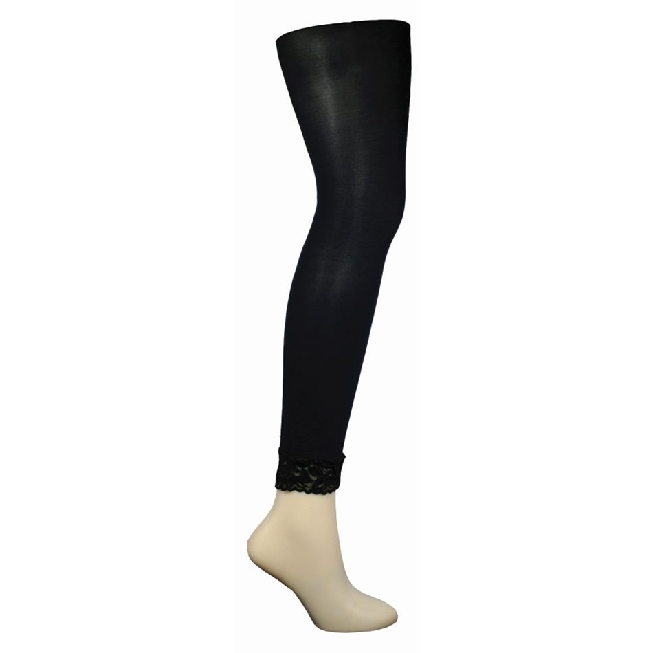 Columbine Lace Cuff Footless Tights -