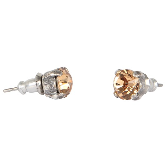 Dambeck Pair of Small Stud Earrings 6mm, Silver