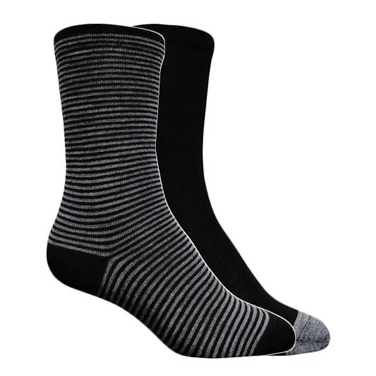 NZ Sock Co Melange Stripe 2 Pack Crew Socks