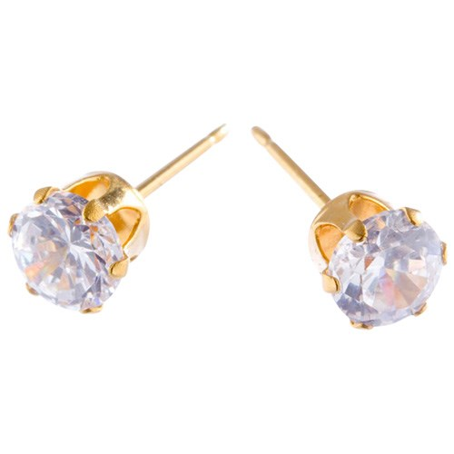 Charm Gold 5mm Cubic Zirconia