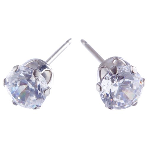 Charm Silver 5mm Cubic Zirconia