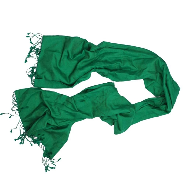 Artisan Silk Plain Pashmina - green