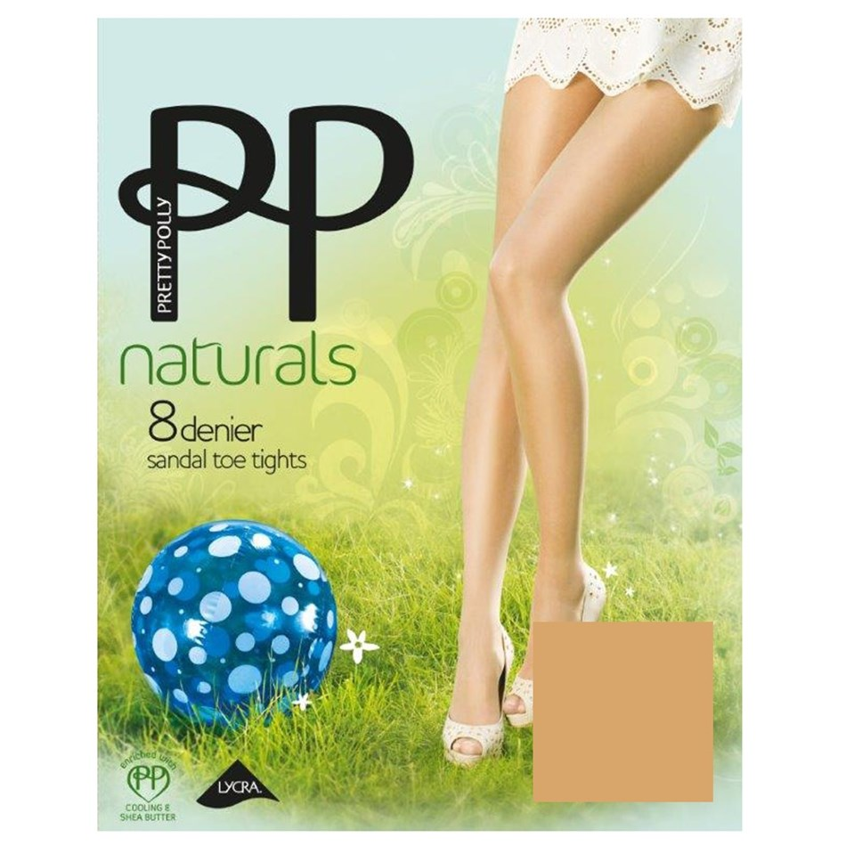 Pretty Polly Sandal Toe - sunkissed