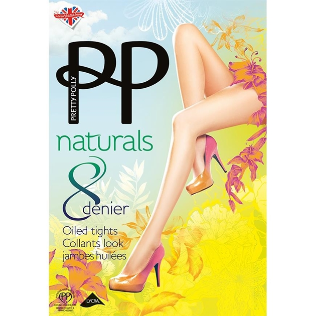 Pretty Polly Oiled Tights - Shiny Effect - barely there