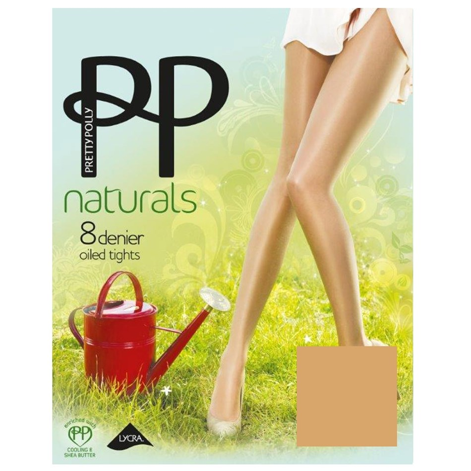 Pretty Polly Oiled Tights - Shiny Effect - sunkissed