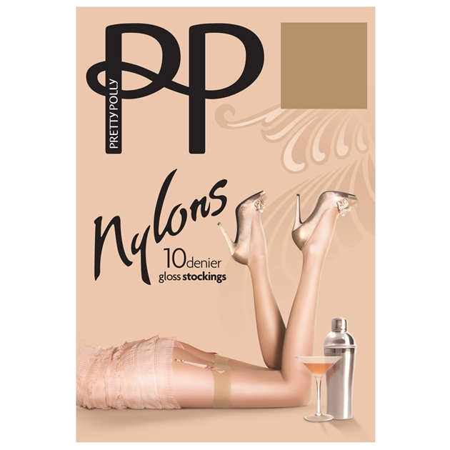 Pretty Polly Gloss Stockings - sherry