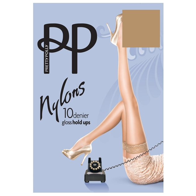 Pretty Polly Gloss Hold Ups - sherry