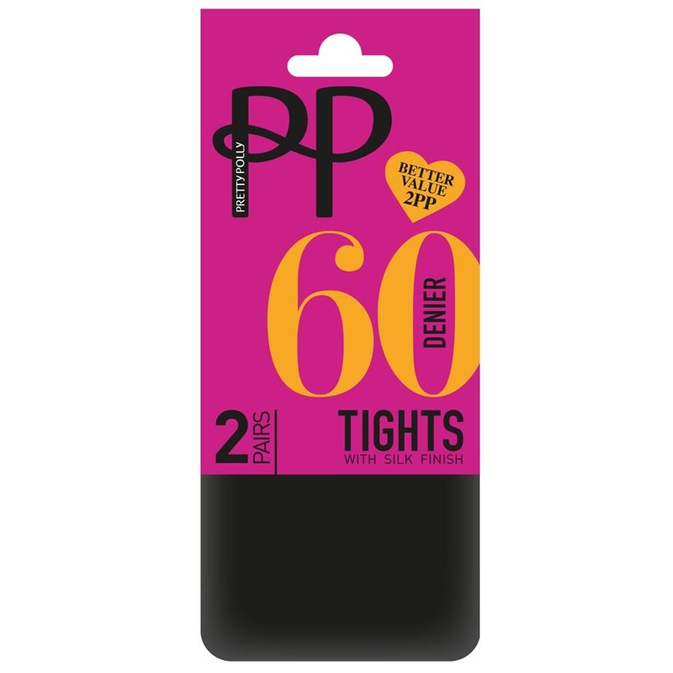 Pretty Polly 2Pair - 60D -