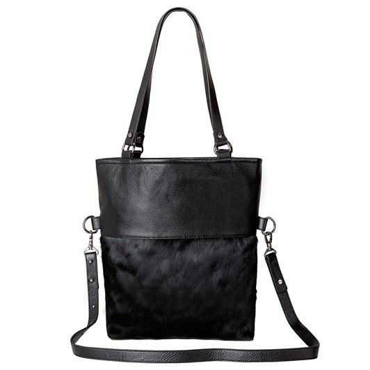 Status Anxiety Wasteland Black-Black Fur Bag