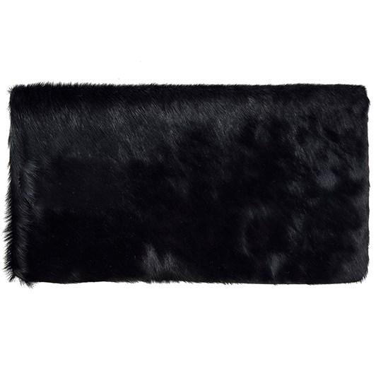 Status Anxiety Gwyneth Black Black Fur Clutch