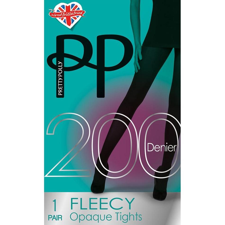 Pretty Polly Fleecy 200D Tights - black