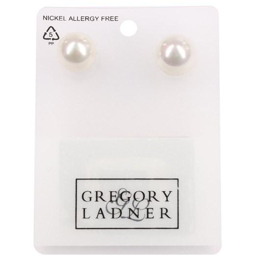 Gregory Ladner E/R - 12mm White Ab Pearl Stud Rhodium