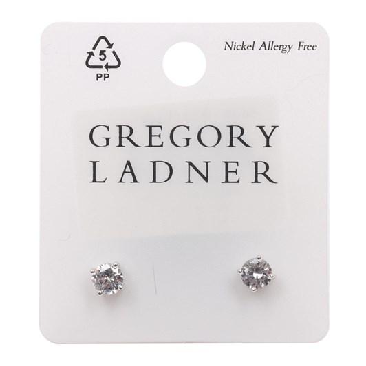 Gregory Ladner E/R - Cz 6mm Round Stud Rhodium