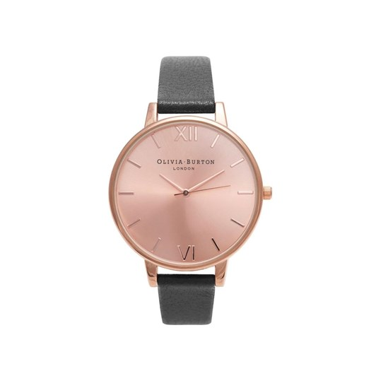Olivia Burton Big Dial Black & Rose Gold