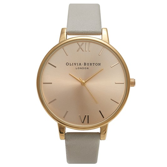 Olivia Burton Big Dial Grey & Gold
