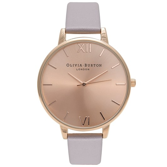 Olivia Burton Big Dial Grey Lilac & Rose Gold