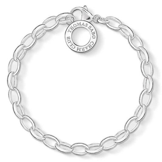 Thomas Sabo C/Club Silver Belcher Bracelet 21.5Cm