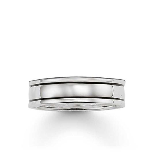 Thomas Sabo #2 Twin Line Medium Oxidised Ring