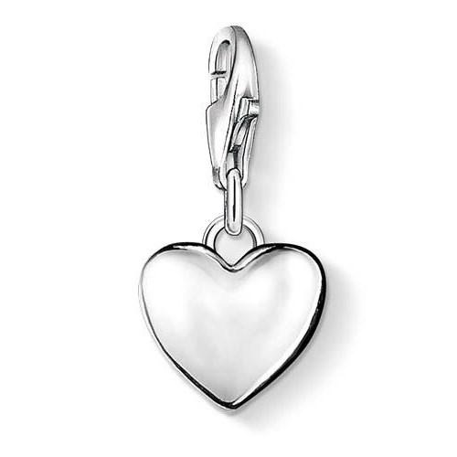 Thomas Sabo Charm Club Solid Domed Heart Ss