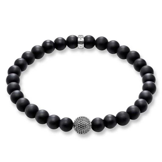 Thomas Sabo #5 Obsidian Kathmandu Bracelet 19Cm