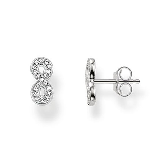 Thomas Sabo #5 Eternity Pavé Cz Stud Earrings