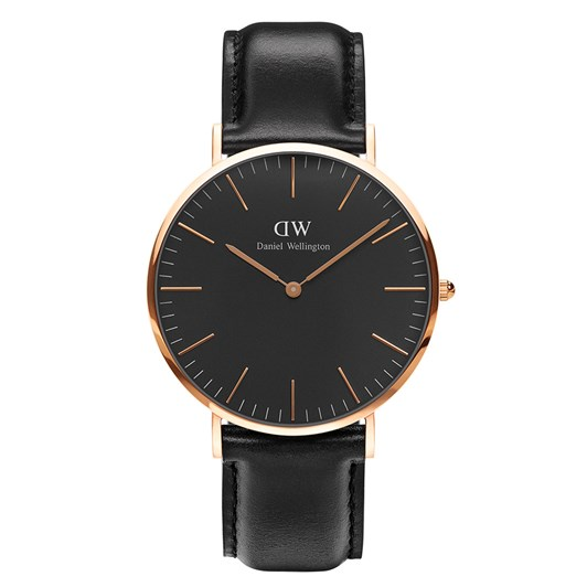 Daniel Wellington Classic Black Watch Rose Gold Sheffield 40Mm