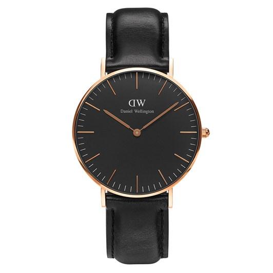 Daniel Wellington Classic Black Watches Rose Gold Sheffield 36Mm