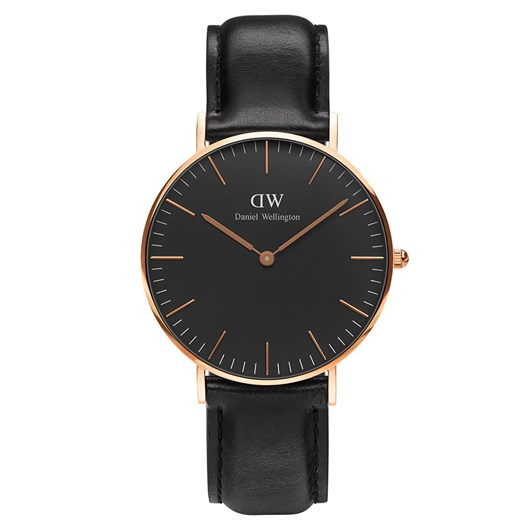 Daniel Wellington Classic Black Watches Rose Gold Sheffield 36Mm